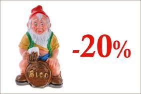20% скидка на садовые фигуры