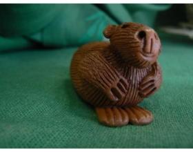 Сувенир керамический Бобер