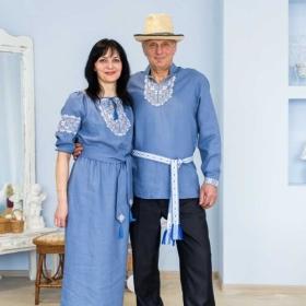 Платье женское, сорочка мужская
